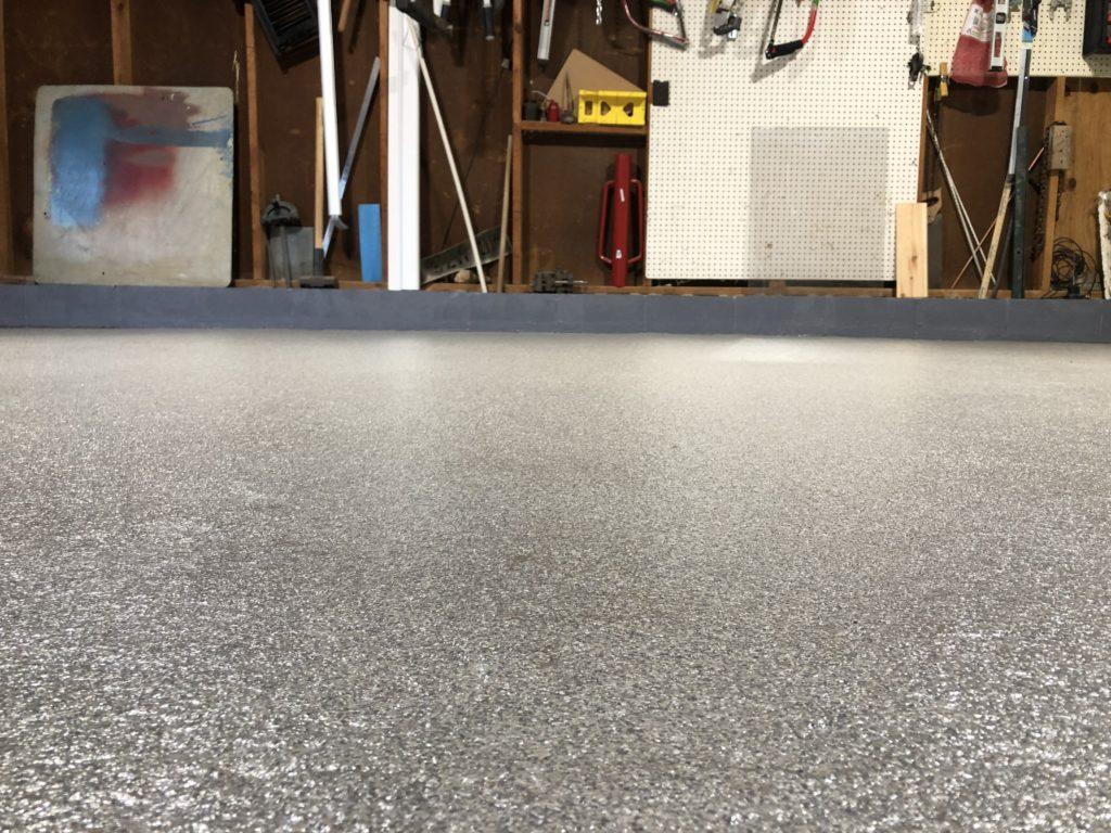 close up of garage floor