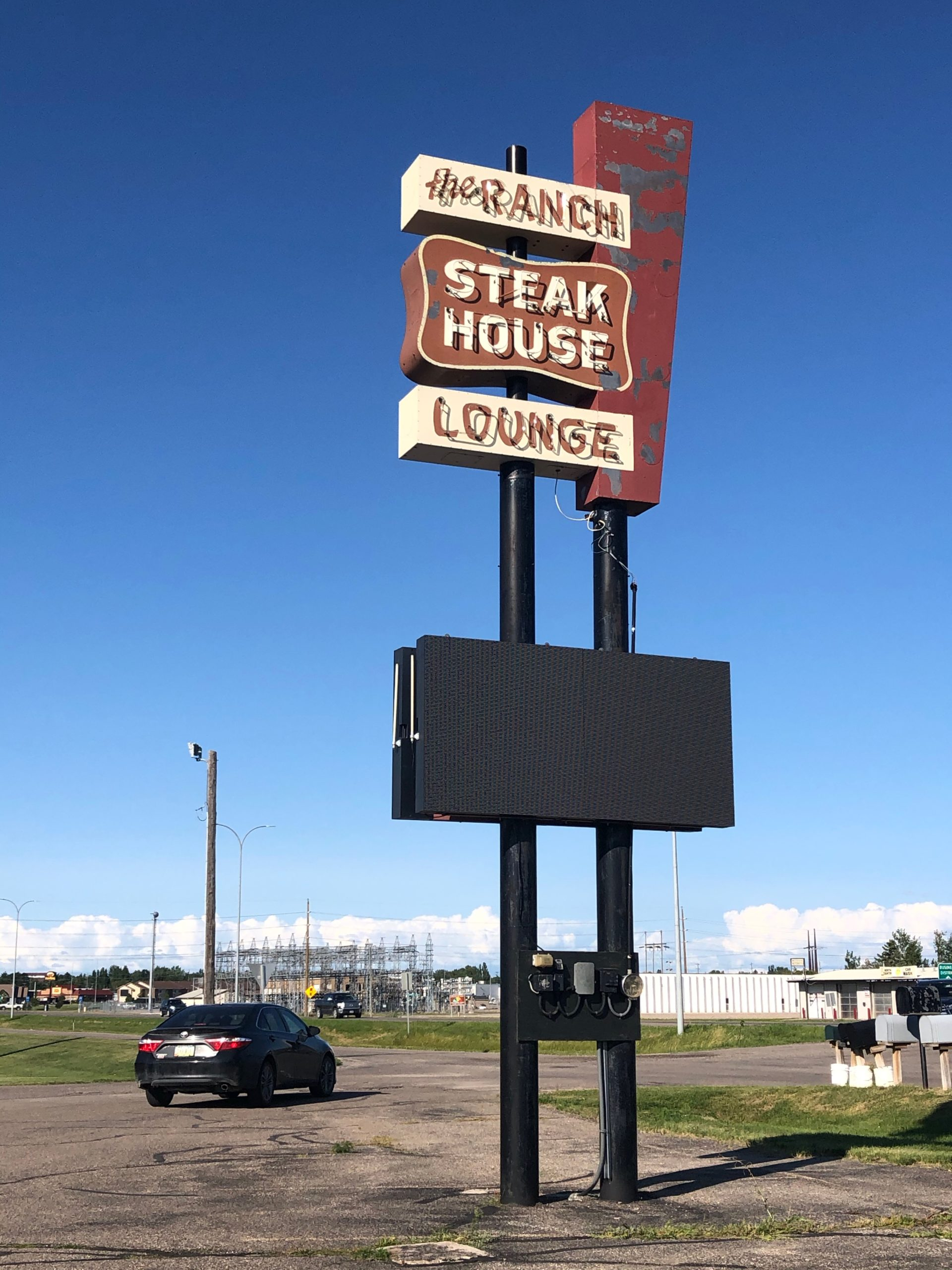 the ranch steakhouse sign devils lake nd