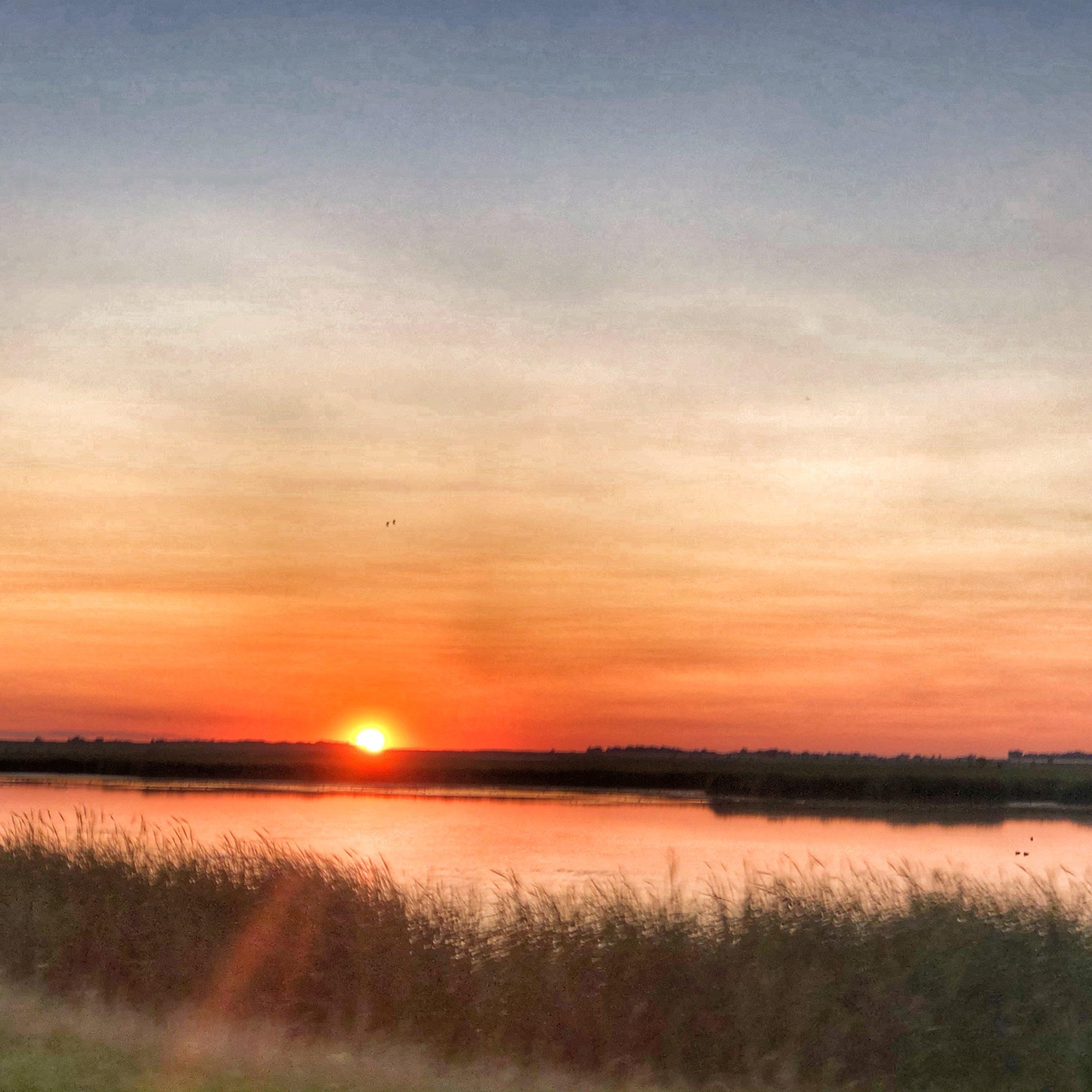 Sunset over Devils Lake!