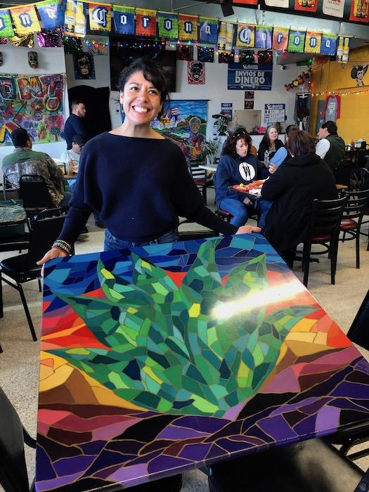 Ines Alvidres a local beaumont artist