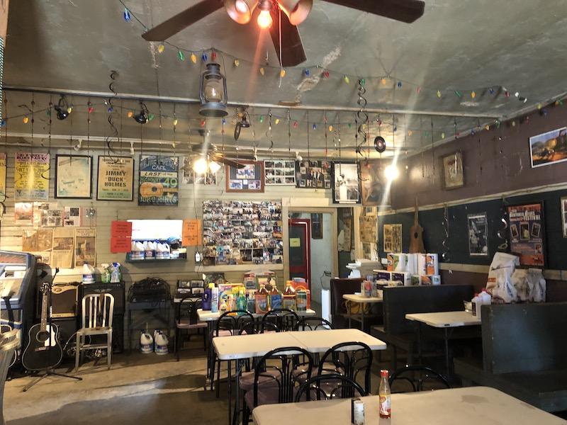 Inside Blue Front Cafe