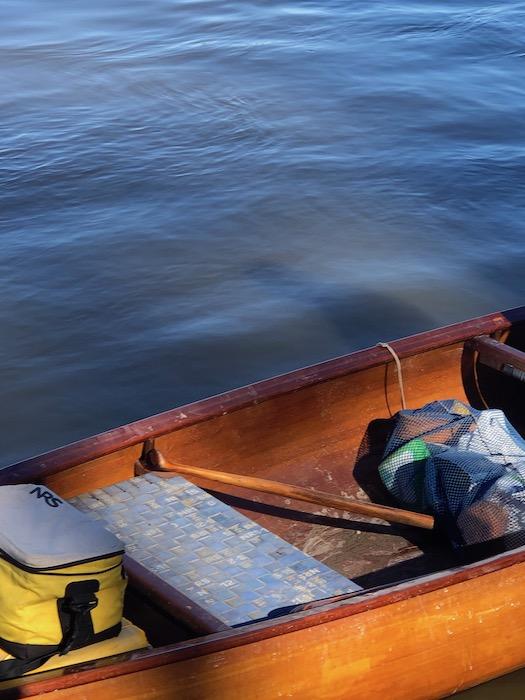 inside a quapaw canoe