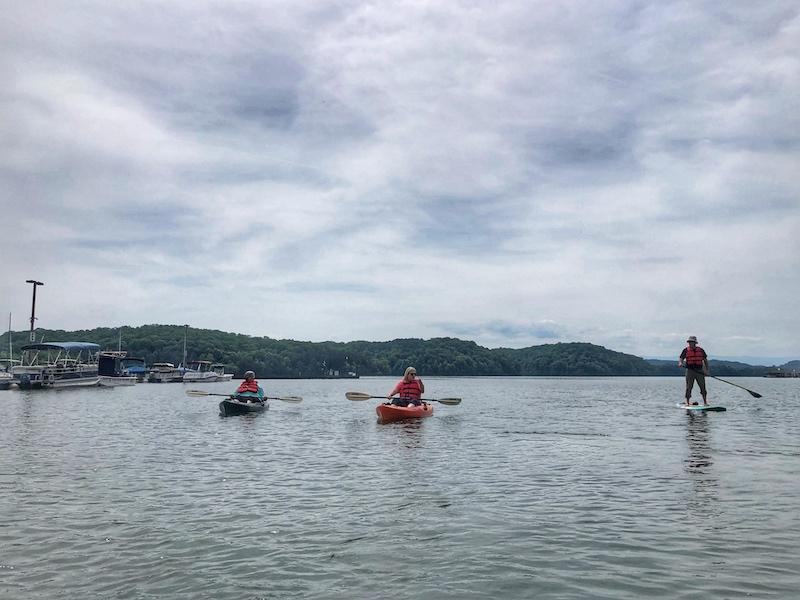 Kayak and SUP on Tellico Lake