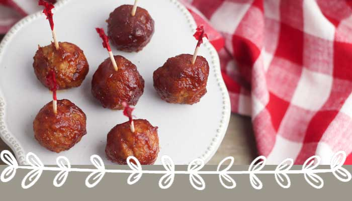 Simple Three-Ingredient Cranberry Sauce Meatballs