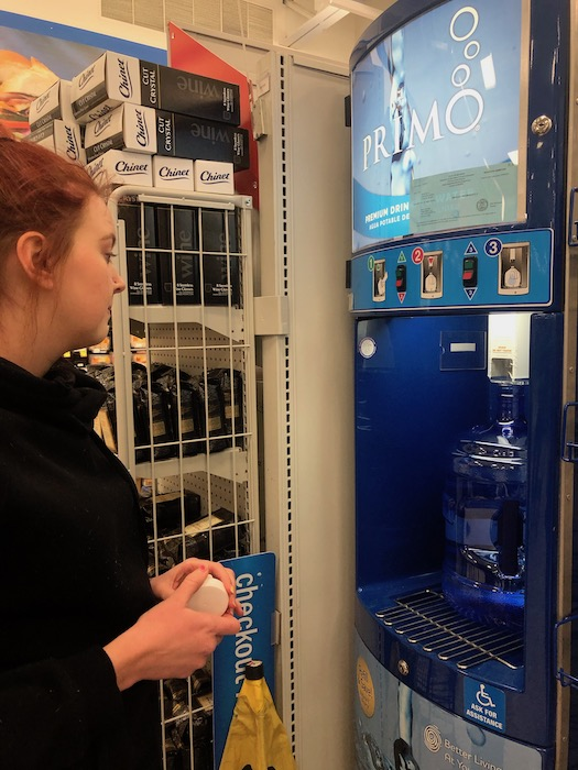 using the meijer primo refill station