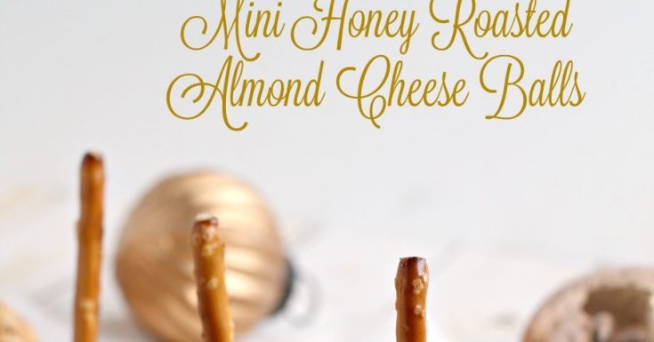 Mini Honey Roasted Almond Cheese Balls