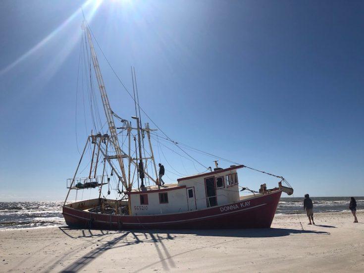 cape san blas beached ship wreck