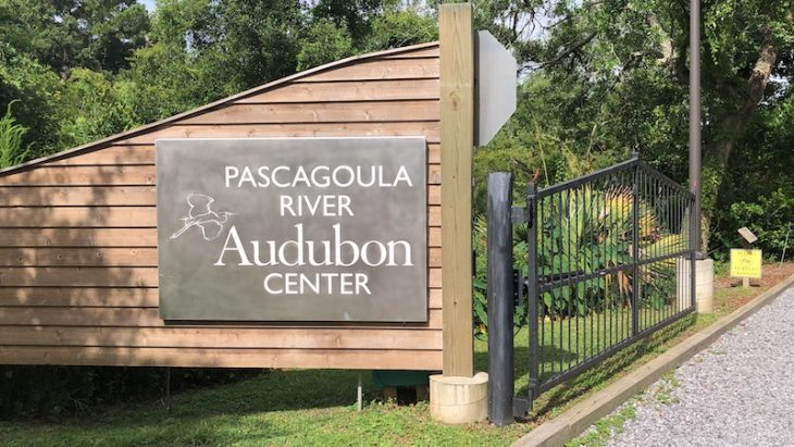 Welcome Sign for Pascagoula River Audubon Center