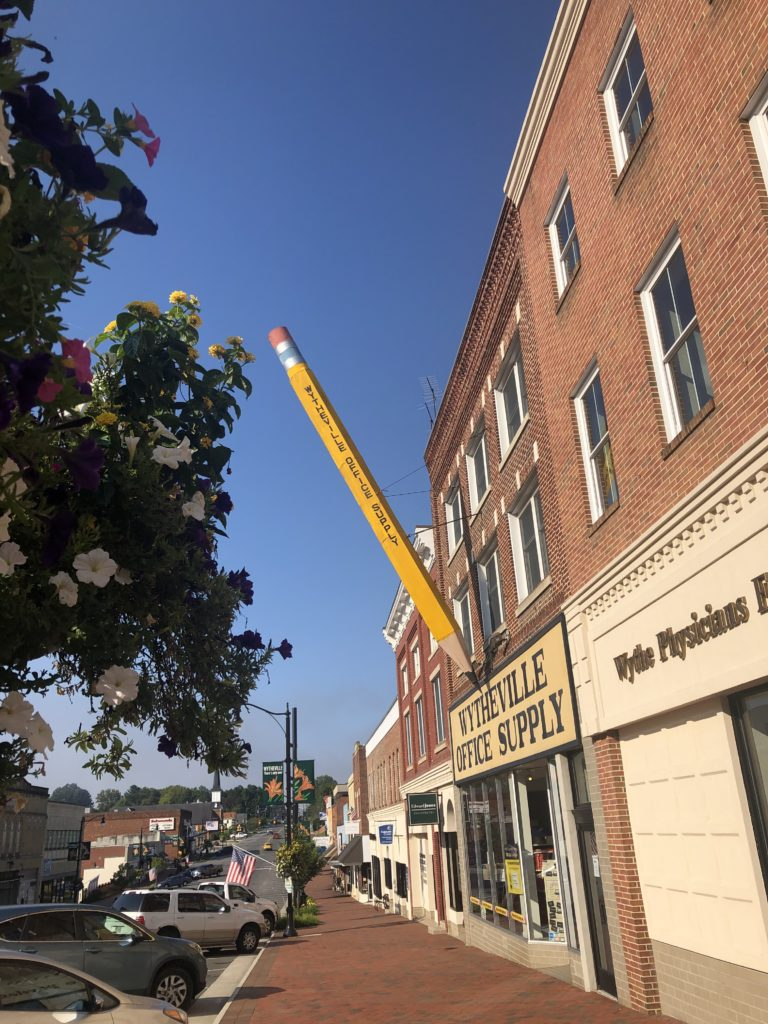 Pencil downtown Wytheville