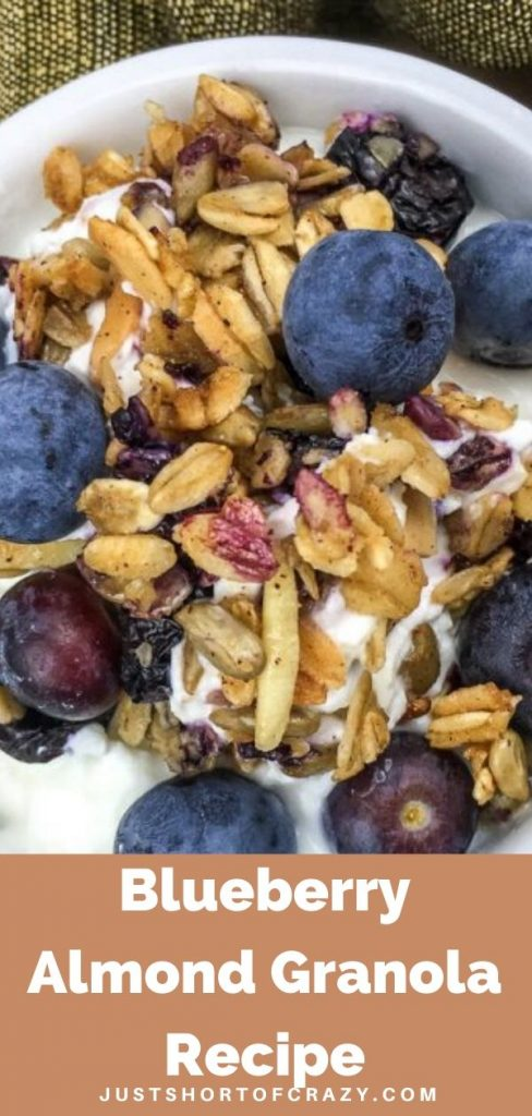 Pin Blueberry Almond Granola Recipe