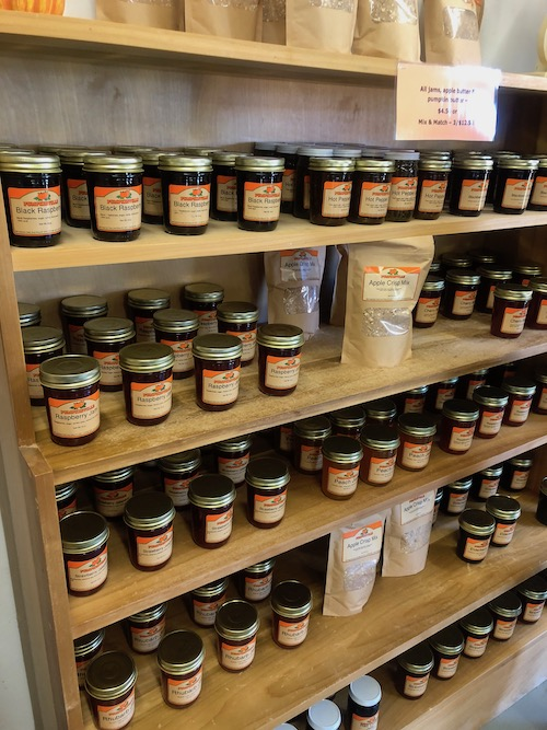 jars of jam are available at pumpkinville in western ny