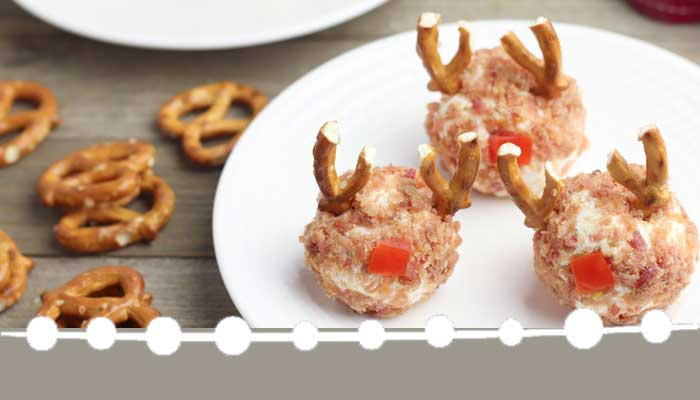Cute Reindeer Christmas Cheese Ball Recipe | Hunny I'm Home