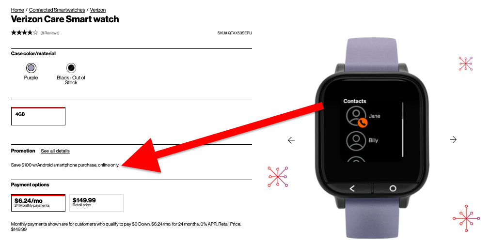 care smart watch affordable