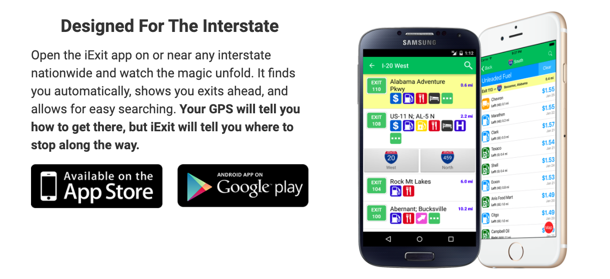 iExit Interstate Guide App