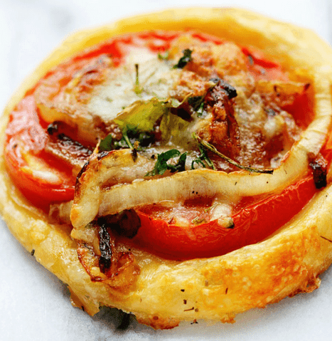Delicious and Easy Mini Tomato Tart (Puff Pastry) Recipe
