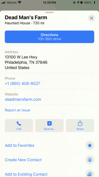 Screenshot for Mobile Map Directions to Dead Man's Farm