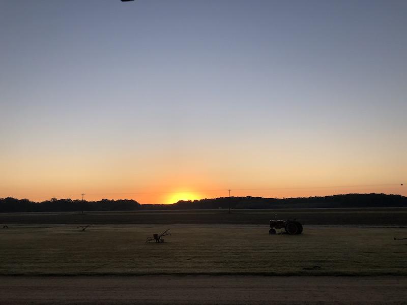Beautiful sunrise from Talahatchie Flats
