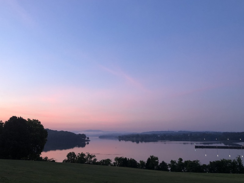 Sunrise at Ft Loudoun Lake