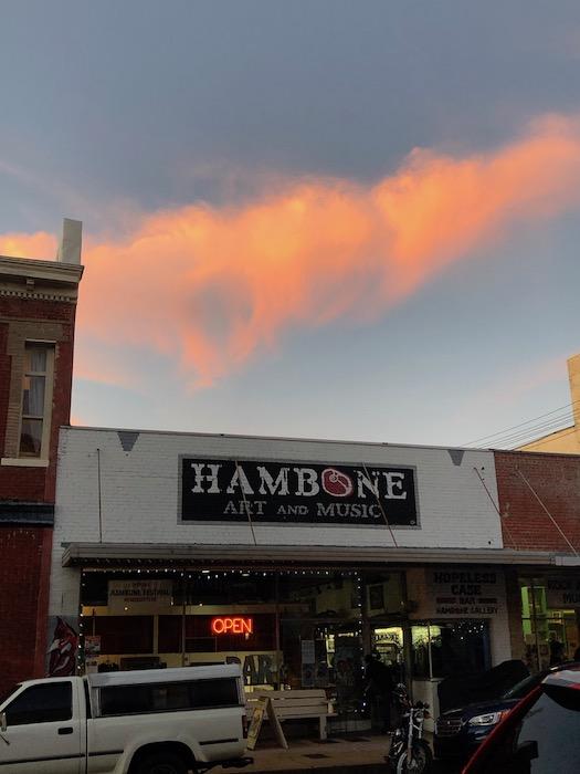 Sunset over Hambone