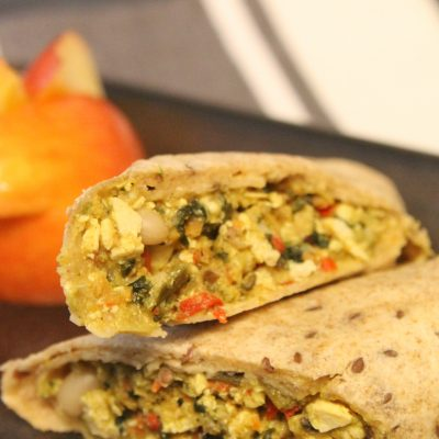 All the filing goodness wrapped up in one delicious sweet earth food breakfast burrito available at Kroger.