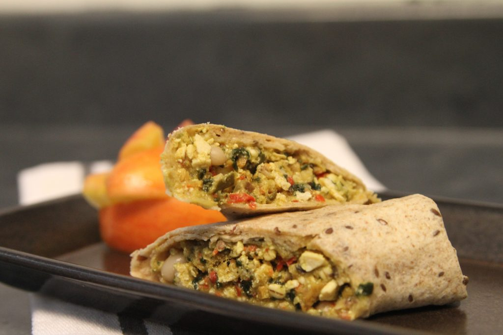 the sweet earth lighten up vegan breakfast burrito comes with o tofu scramble that will convert non tofu people