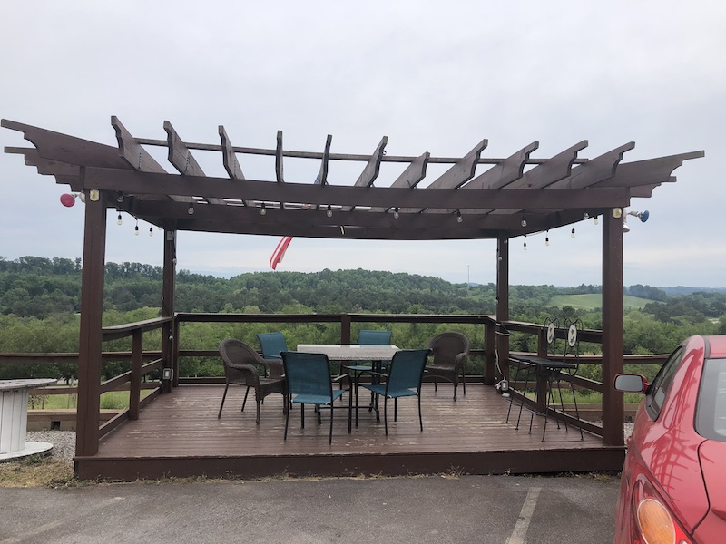 Outdoor seating at the Tennessee Valley Winery
