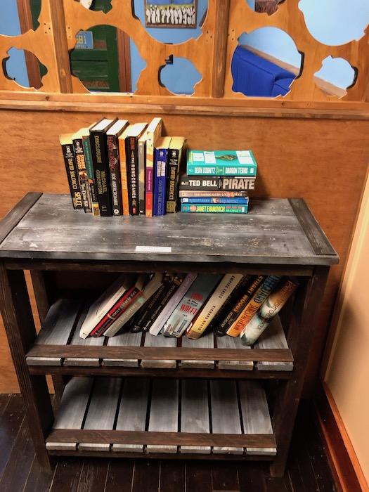 The Squeeze Box bookshelf