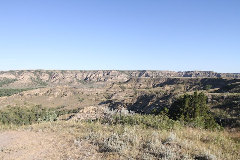 overlook along one of the trails at theodore roosevelt national park