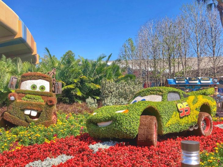 Topiary Disney Flowers Epcot Cars
