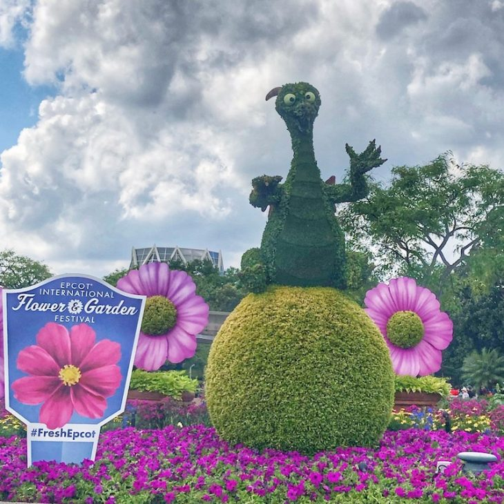 Topiary Disney Flowers Epcot Dragon