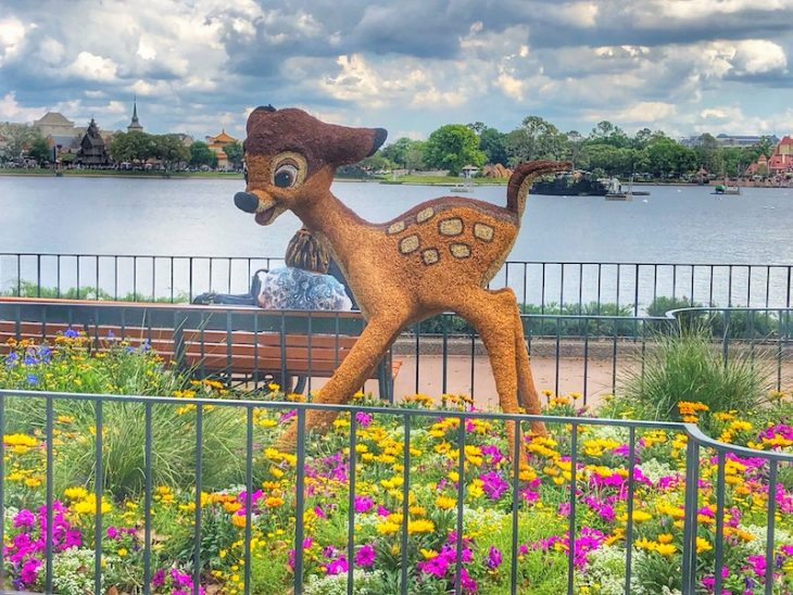 Topiary Disney Flowers Epcot bambi