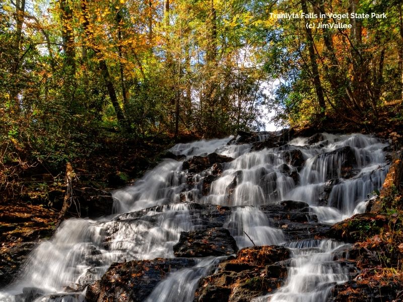 Trahlyta Falls in Vogel State Park Canva Images (c) JimVallee