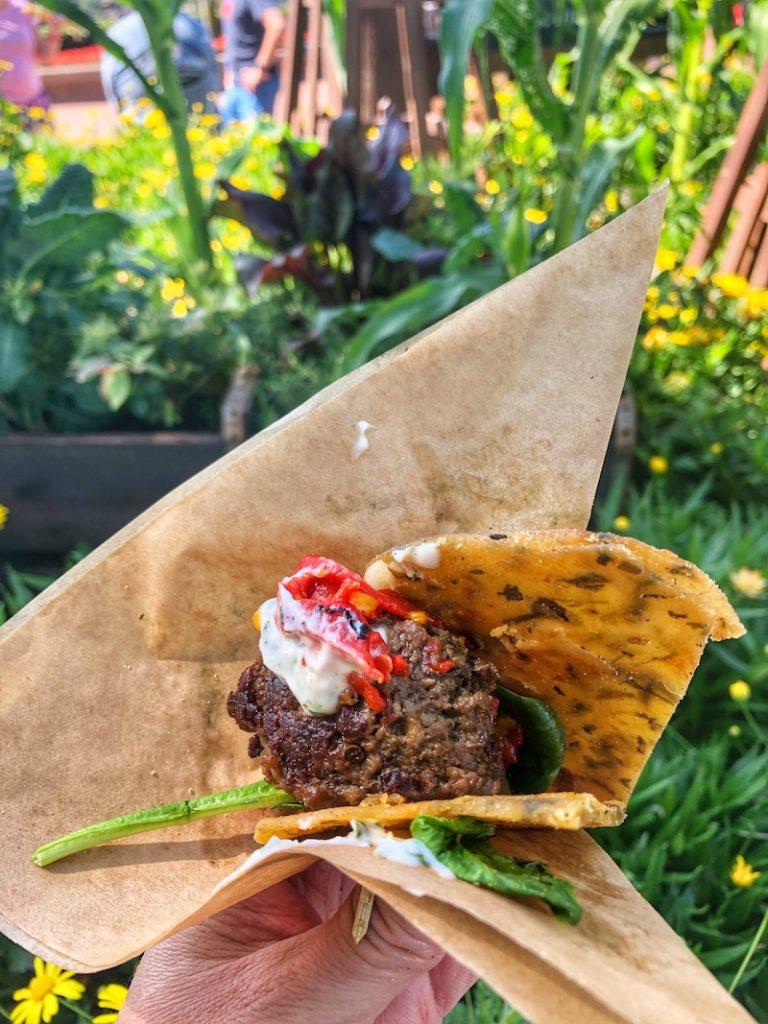 Trowel and Trellis Outdoor kitchen flower festival farmhouse meatball