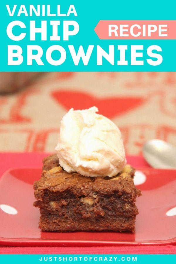 Vanilla Chip Brownies