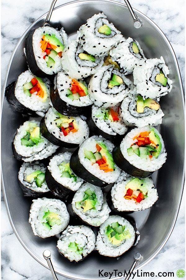 How to Make Vegan Sushi (Surprisingly Easy!)