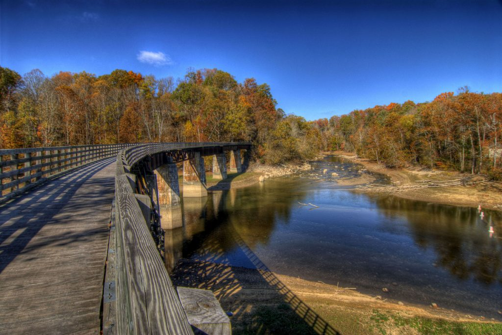 One of the 47 bridges that are along Virginia's Creeper Trail