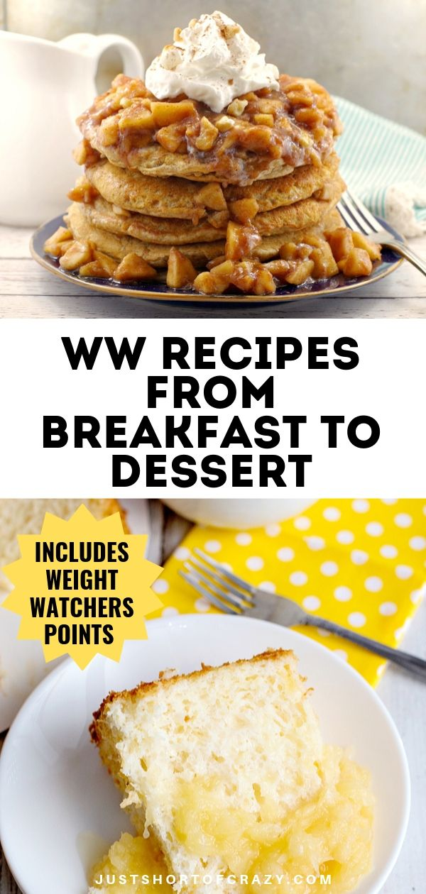 WW Recipes breakfast to dessert