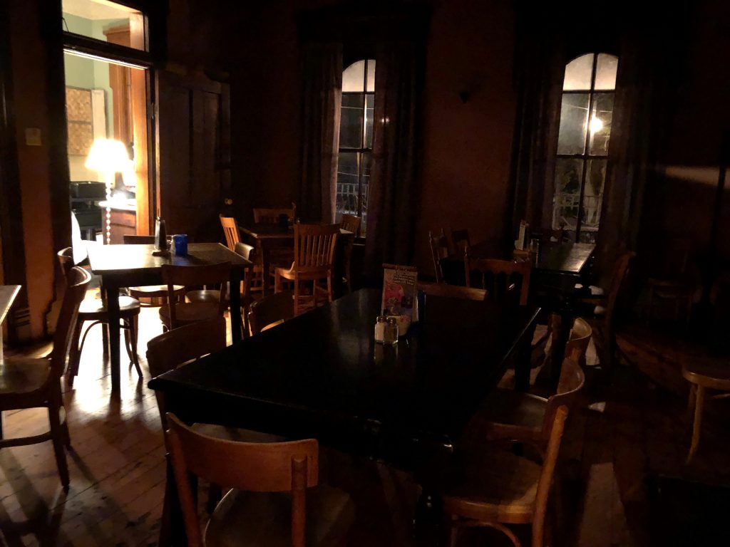 Dining at a haunted restaurant is epic