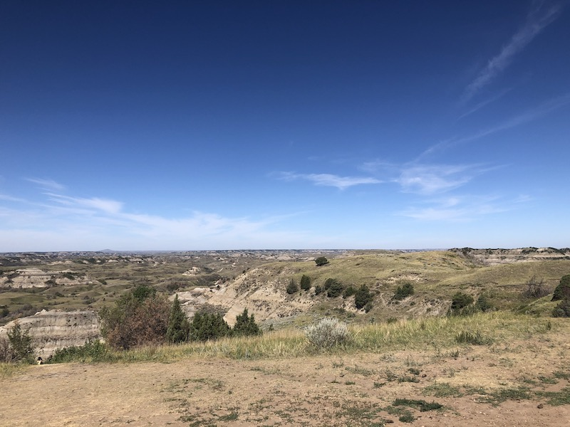 scenic landscape view at theordore roosevelt national park