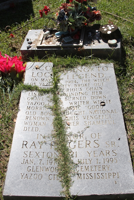 Witch of Yazoo burial marker
