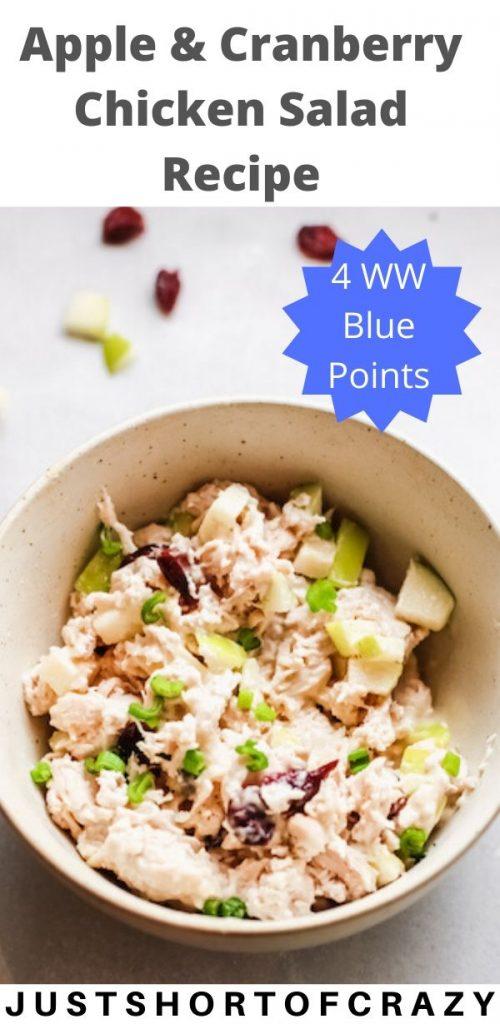 apple & cranberry chicken salad recipe