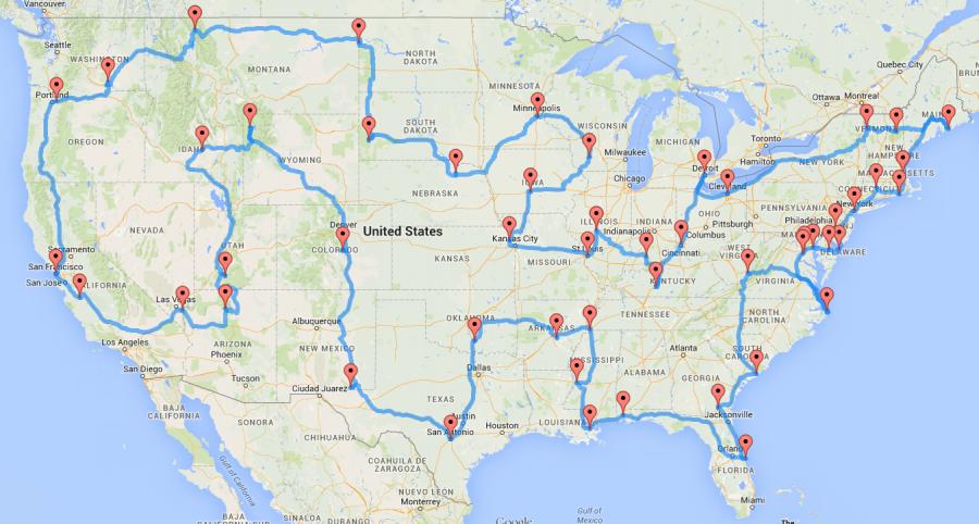 best road trip to major U.S. landmarks