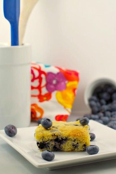 Healthy Blueberry Cornbread - Food Meanderings