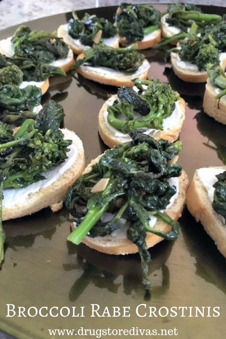 Broccoli Rabe Crostinis