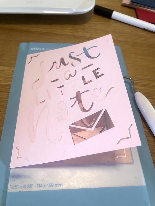 cricut joy card making