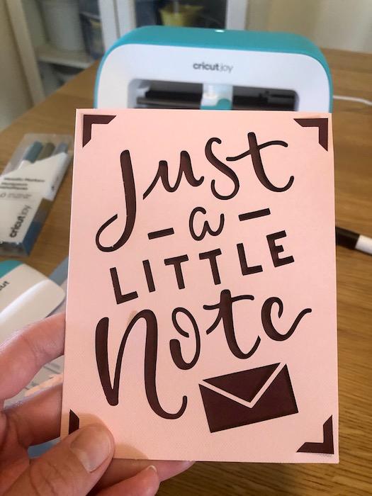 card making cricut joy