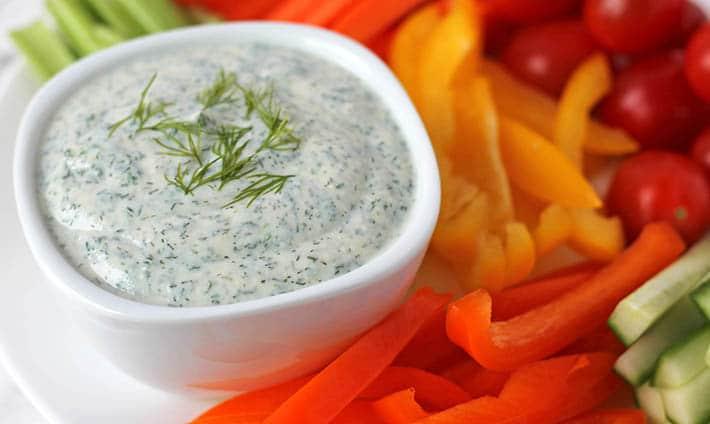 Creamy Vegan Veggie Dip