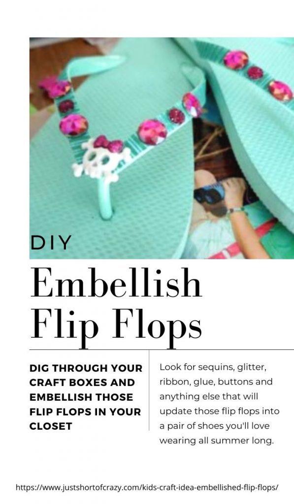 embellish flip flops