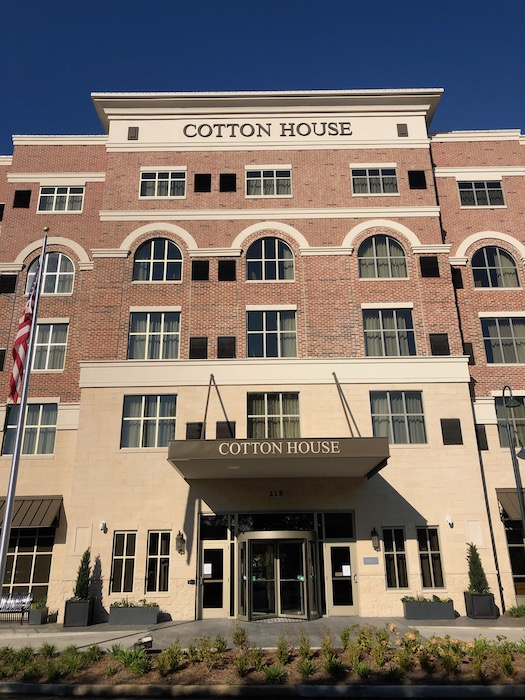 outside front of the cotton house