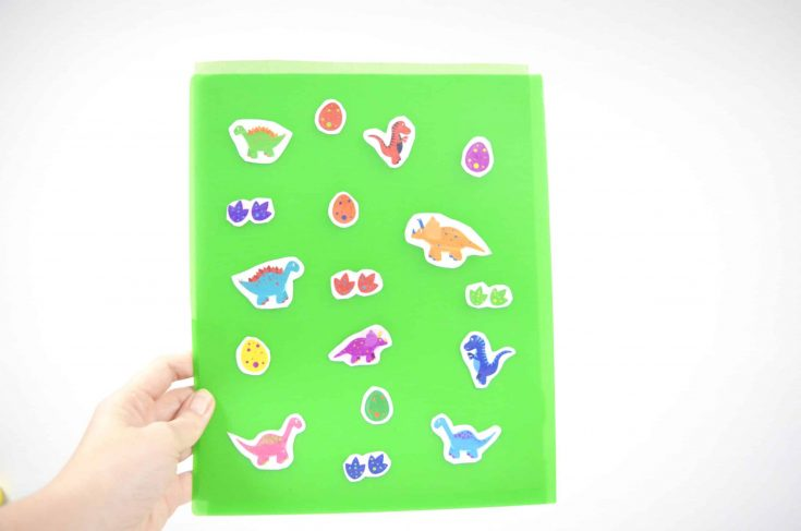 How to Make Your Own Stickers Tutorial – Scented Dinosaur Sensory Craft
